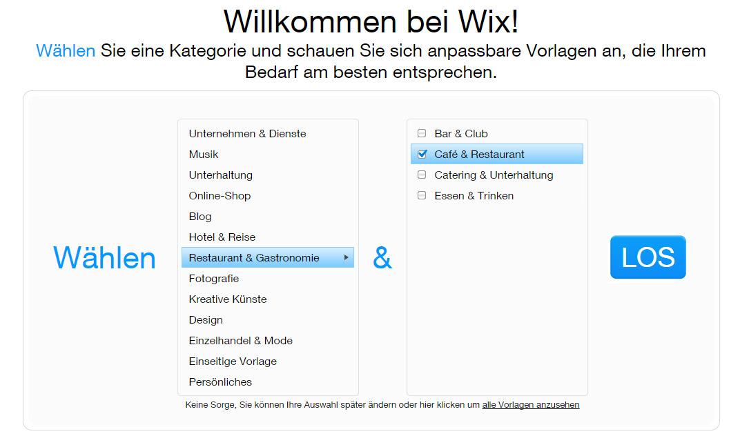 Willkommen bei Wix