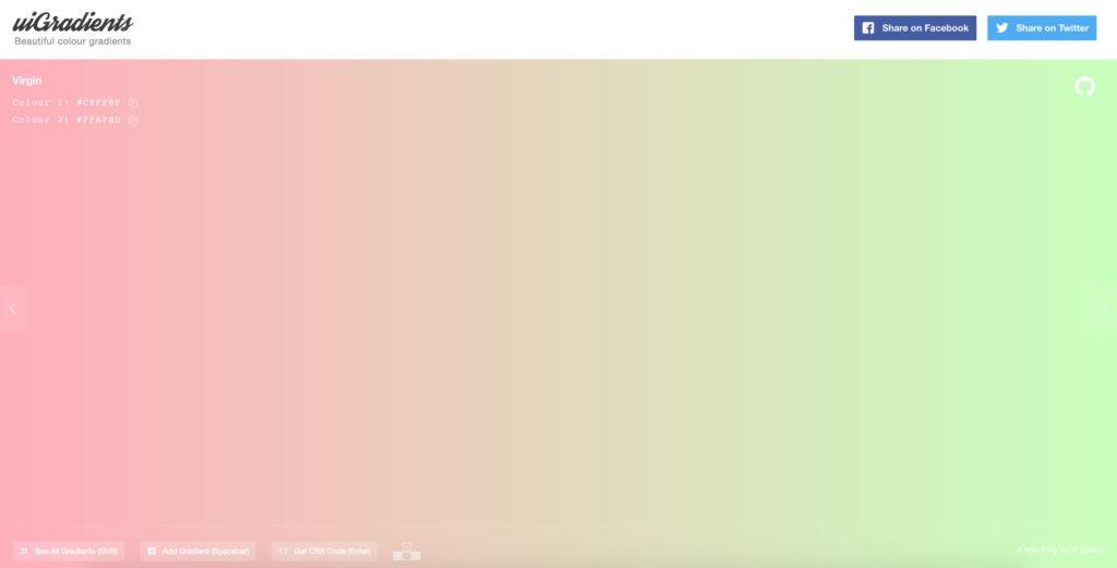 uiGradients - beautiful CSS gradients